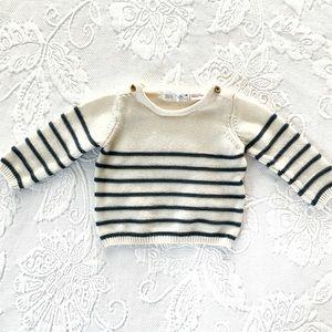 Zara Baby   Knit Striped Sweater (3-6 mos)